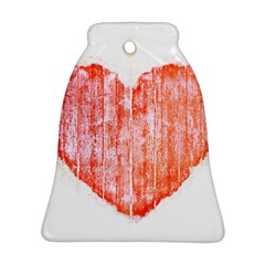Pop Art Style Grunge Graphic Heart Bell Ornament (Two Sides)