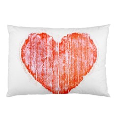 Pop Art Style Grunge Graphic Heart Pillow Case (Two Sides)