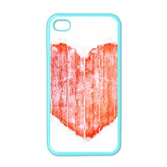 Pop Art Style Grunge Graphic Heart Apple iPhone 4 Case (Color)