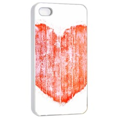 Pop Art Style Grunge Graphic Heart Apple iPhone 4/4s Seamless Case (White)