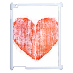 Pop Art Style Grunge Graphic Heart Apple iPad 2 Case (White)