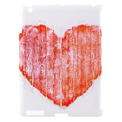 Pop Art Style Grunge Graphic Heart Apple iPad 3/4 Hardshell Case (Compatible with Smart Cover)