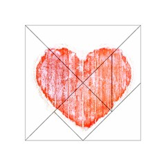 Pop Art Style Grunge Graphic Heart Acrylic Tangram Puzzle (4  x 4 )