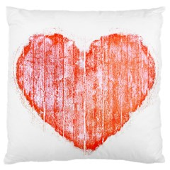 Pop Art Style Grunge Graphic Heart Large Cushion Case (One Side)