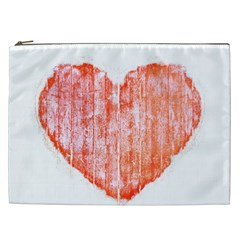 Pop Art Style Grunge Graphic Heart Cosmetic Bag (XXL)