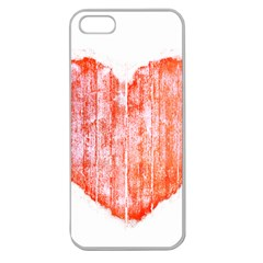 Pop Art Style Grunge Graphic Heart Apple Seamless iPhone 5 Case (Clear)