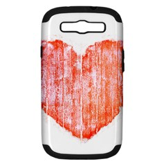 Pop Art Style Grunge Graphic Heart Samsung Galaxy S III Hardshell Case (PC+Silicone)