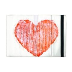 Pop Art Style Grunge Graphic Heart Apple iPad Mini Flip Case