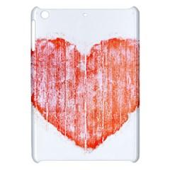 Pop Art Style Grunge Graphic Heart Apple iPad Mini Hardshell Case