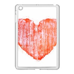 Pop Art Style Grunge Graphic Heart Apple iPad Mini Case (White)