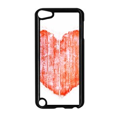 Pop Art Style Grunge Graphic Heart Apple iPod Touch 5 Case (Black)
