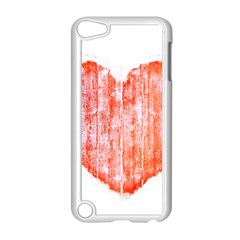 Pop Art Style Grunge Graphic Heart Apple iPod Touch 5 Case (White)