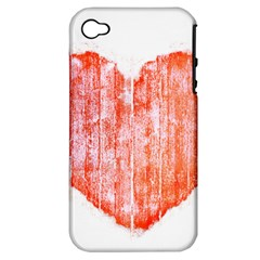 Pop Art Style Grunge Graphic Heart Apple iPhone 4/4S Hardshell Case (PC+Silicone)