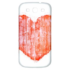 Pop Art Style Grunge Graphic Heart Samsung Galaxy S3 S III Classic Hardshell Back Case