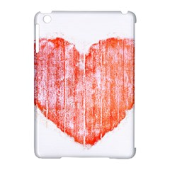 Pop Art Style Grunge Graphic Heart Apple iPad Mini Hardshell Case (Compatible with Smart Cover)