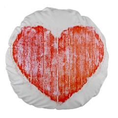 Pop Art Style Grunge Graphic Heart Large 18  Premium Round Cushions