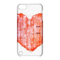 Pop Art Style Grunge Graphic Heart Apple iPod Touch 5 Hardshell Case with Stand