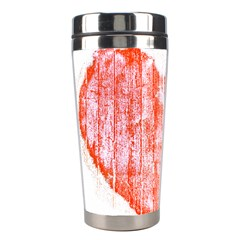 Pop Art Style Grunge Graphic Heart Stainless Steel Travel Tumblers