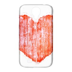 Pop Art Style Grunge Graphic Heart Samsung Galaxy S4 Classic Hardshell Case (PC+Silicone)
