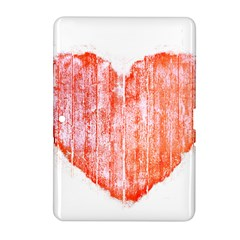Pop Art Style Grunge Graphic Heart Samsung Galaxy Tab 2 (10.1 ) P5100 Hardshell Case