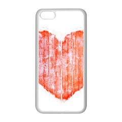 Pop Art Style Grunge Graphic Heart Apple iPhone 5C Seamless Case (White)
