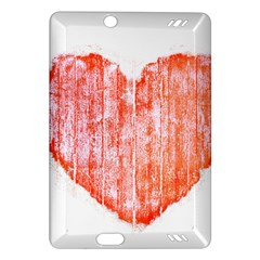 Pop Art Style Grunge Graphic Heart Amazon Kindle Fire HD (2013) Hardshell Case