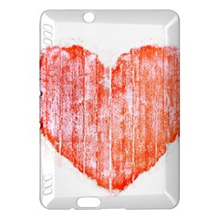 Pop Art Style Grunge Graphic Heart Kindle Fire HDX Hardshell Case