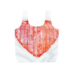 Pop Art Style Grunge Graphic Heart Full Print Recycle Bags (S)