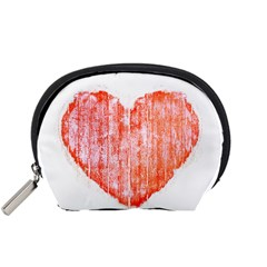 Pop Art Style Grunge Graphic Heart Accessory Pouches (Small)