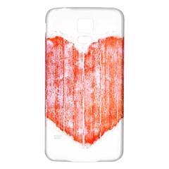 Pop Art Style Grunge Graphic Heart Samsung Galaxy S5 Back Case (White)