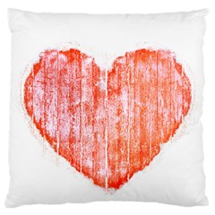 Pop Art Style Grunge Graphic Heart Large Flano Cushion Case (One Side)