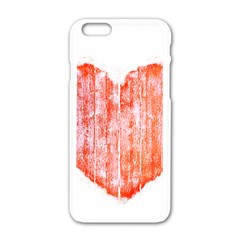 Pop Art Style Grunge Graphic Heart Apple iPhone 6/6S White Enamel Case