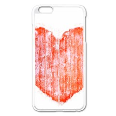 Pop Art Style Grunge Graphic Heart Apple iPhone 6 Plus/6S Plus Enamel White Case