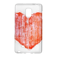 Pop Art Style Grunge Graphic Heart Galaxy Note Edge