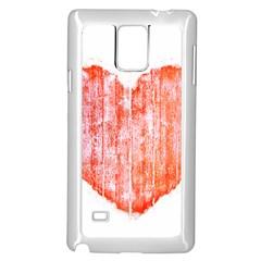 Pop Art Style Grunge Graphic Heart Samsung Galaxy Note 4 Case (White)