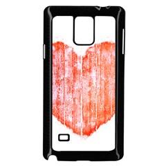 Pop Art Style Grunge Graphic Heart Samsung Galaxy Note 4 Case (Black)
