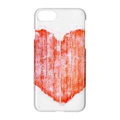 Pop Art Style Grunge Graphic Heart Apple iPhone 7 Hardshell Case