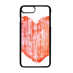 Pop Art Style Grunge Graphic Heart Apple iPhone 7 Plus Seamless Case (Black)