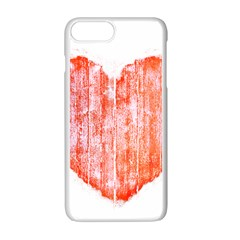 Pop Art Style Grunge Graphic Heart Apple iPhone 7 Plus White Seamless Case
