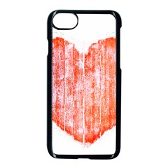 Pop Art Style Grunge Graphic Heart Apple iPhone 7 Seamless Case (Black)