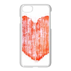 Pop Art Style Grunge Graphic Heart Apple iPhone 7 Seamless Case (White)