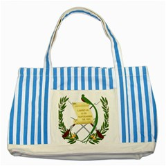 National Emblem of Guatemala  Striped Blue Tote Bag