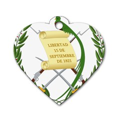 National Emblem of Guatemala  Dog Tag Heart (Two Sides)