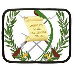 National Emblem of Guatemala  Netbook Case (Large)