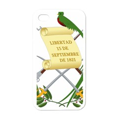 National Emblem of Guatemala  Apple iPhone 4 Case (White)