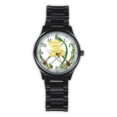 National Emblem of Guatemala  Stainless Steel Round Watch