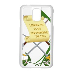 National Emblem of Guatemala  Samsung Galaxy S5 Case (White)