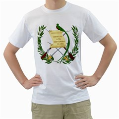 National Emblem of Guatemala Men s T-Shirt (White) (Two Sided)