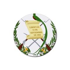 National Emblem Of Guatemala Rubber Coaster (round)