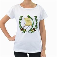 National Emblem of Guatemala Women s Loose-Fit T-Shirt (White)